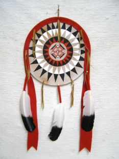 Native American Navajo Made Ceremonial Shield