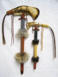 Native American Creek Made Jawbone Tomahawks