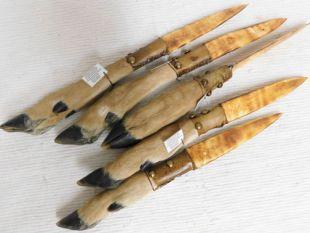 Native American Creek Made Deer Foot Knife