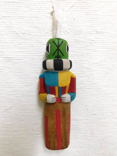 Old Style Hopi Carved Rattle Traditional Racer Katsina Doll
