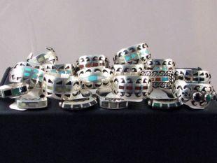 Vintage Native American Navajo Made Inlaid Rings