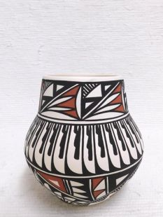 Native American Acoma Handpainted Traditional Chimney Pot