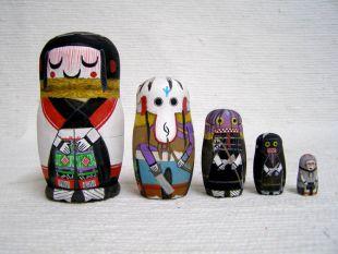 Native American Hopi Carved Grandmother Katsina Nesting Dolls