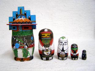 Native American Hopi Carved Hemis Katsina Nesting Dolls