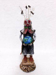 Native American Hopi Carved Maasaw Death Katsina Doll