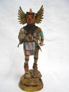Native American Hopi Carved Mudhead as Owl Katsina Doll