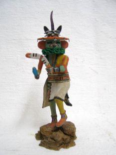 Native American Hopi Carved Rabbit Stick Hunter Katsina Doll