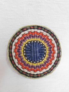 Native American Hopi Made Wicker Plaque
