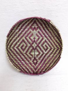 Native American Hopi Made Sifter Basket with Spider