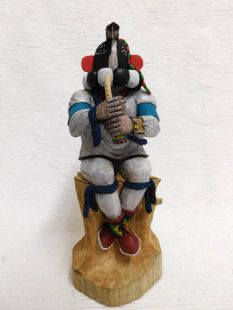 Native American Hopi Carved Kokopelli Fertility Katsina Doll