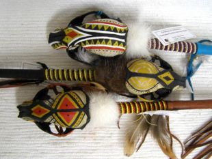 Native American Cherokee Made Raccoon Spirit Dance Stick