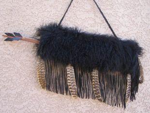 Native American Cherokee Made Tibetan Lamb Quiver with Arrows - Quiver