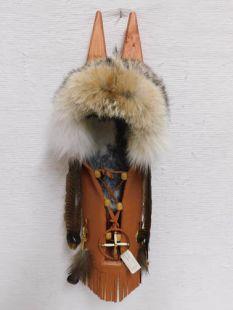 Native American Cherokee Made Coyote Cradleboard