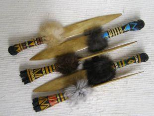 Native American Cherokee Made Painted Deer Leg Bone Knife
