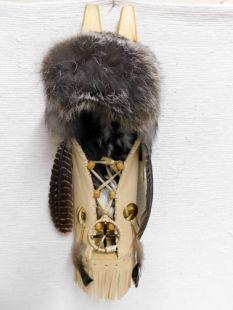 Native American Cherokee Made Cross Fox Cradleboard