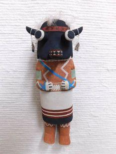 Old Style Hopi Carved Buffalo Traditional Animal Katsina Doll
