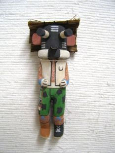 Old Style Hopi Carved Mocking Traditional Clown Katsina Doll