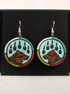 Native American Hopi Made Bear Earrings