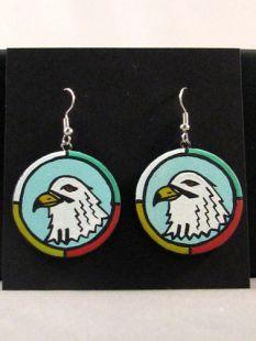 Native American Hopi Made Eagle Earrings