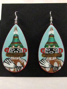Native American Hopi Made Warrior Twin Katsina Earrings