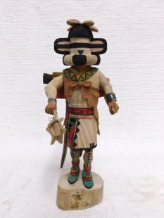Native American Hopi Carved Zuni Cloud Priest Warrior Katsina Doll