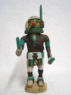 Native American Hopi Carved Uncle to the Longhairs Katsina Doll