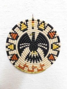 Native American Hopi Made Coil Plaque with Eagle