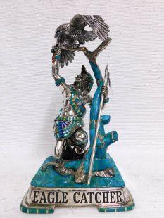 """Vintage Imported """"Eagle Catcher"""" Sterling Silver Figure--SOLD"""