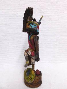 Native American Hopi Carved Eagle Great Spirit and Mudhead Katsina Doll