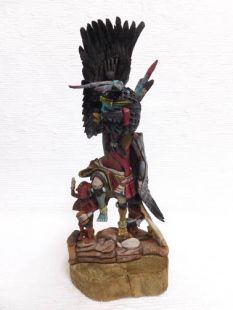 Native American Hopi Carved Eagle Great Spirit and Mudheads Katsina Doll