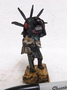 Native American Hopi Carved Ogre Disciplinarian Katsina Doll and Clown