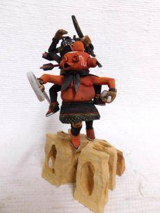 Native American Hopi Carved Paralyzed Tuhavi and Blind Mudhead Katsina Doll