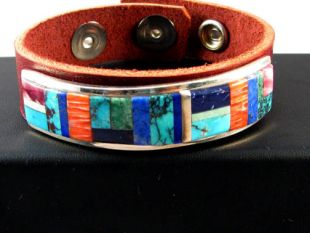 Native American Navajo Made Bracelet with Multistones