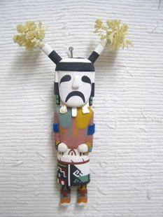 Old Style Hopi Carved Clown Tradional Katsina Doll