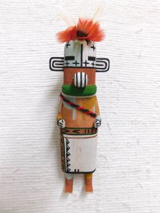 Old Style Hopi Carved Coyote Clan Traditional Animal Katsina Doll