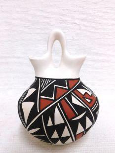 Native American Acoma Handpainted Wedding Vase--Squat