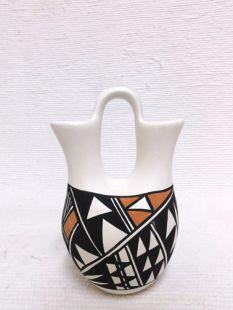 Native American Acoma Handpainted Wedding Vase