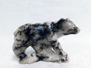 Native American Made Ceramic Horsehair Realistic Bear