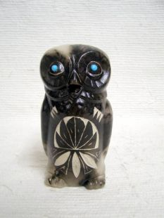 Native American Made Ceramic Horsehair Owl