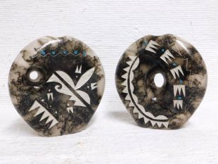 Native American Made Ceramic Horsehair Medium Pillow Pots--styles will vary
