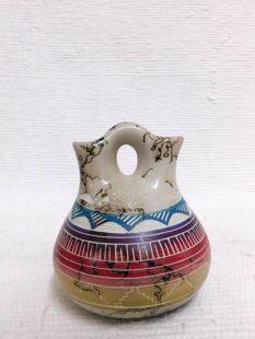 Native American Navajo Fine Etched Horsehair Wedding Vase