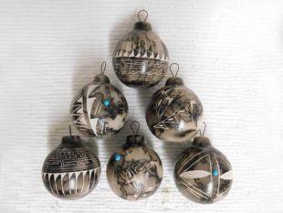 Native American Navajo Made Horsehair Christmas Ball Ornaments