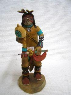 Native American Hopi Carved Mountain Lion Guard Katsina Doll