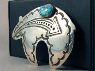Vintage Native American Navajo Made Buckle--Spirit Bear