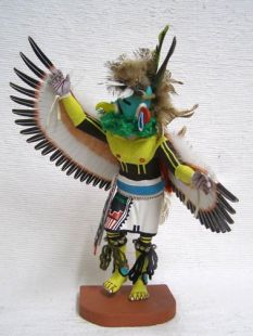 Antique Native American Hopi Carved Eagle Great Spirit Katsina Doll