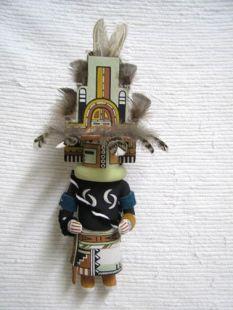 Old Style Hopi Carved Hemis Traditional Home Going Katsina Doll