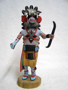 Native American Hopi Carved Chasing Star Planetary Katsina Doll