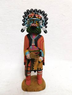 Native American Hopi Carved Hemis Hu Whipper Katsina Doll