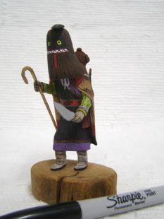 Native American Hopi Carved Ogre Woman Disciplinarian Katsina Doll