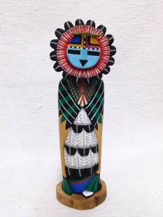 Native American Hopi Carved Sunface Katsina Sculpture
